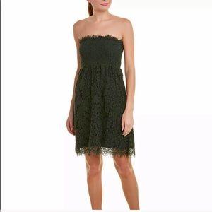 Kareese Smocked Strapless Lace Dress